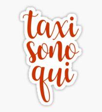 jersey shore - taxi sono qui Sticker
