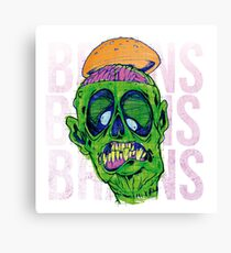 Brains Brains Brains Canvas Print