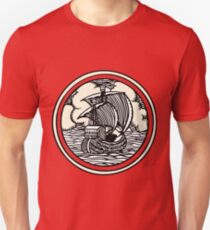 Historic ship sailing into the wind Unisex T-Shirt