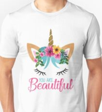 Beautiful - Unicorn - Modern Design  Unisex T-Shirt