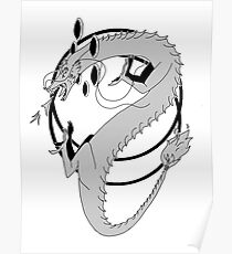 Dragon God of Inktober 2017  Poster
