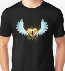 Mechanical Heart with White Wings ( Steampunk ) Unisex T-Shirt