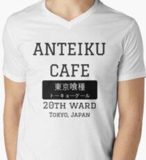 Camiseta para hombre de cuello en v Anteiku Cafe