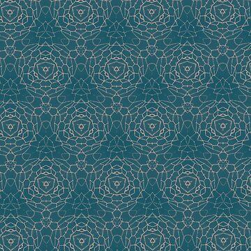 Patrón geométrico verde azulado de skinnyginny