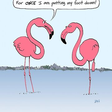 Flamingos Cartoon by ShortCoffee