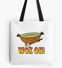 Wok On Funny Chinese Cooking Pun Tote Bag