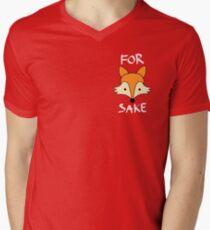 For Fox Sake - White on Colour Men's V-Neck T-Shirt