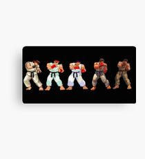 street fighter 1,2,3,4,5 Canvas Print