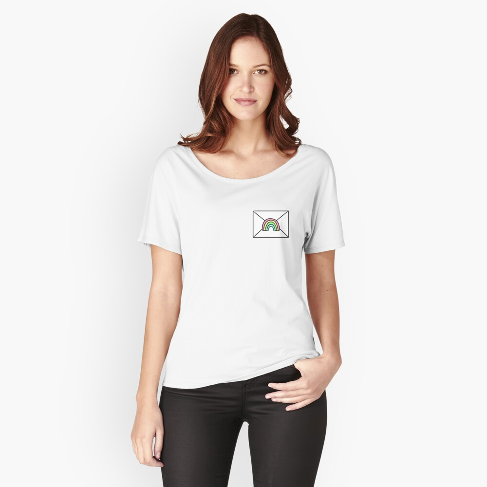 Rainbow Snail Mail Relaxed Fit T-Shirt