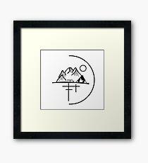 Minimalistic Mountainside Framed Print
