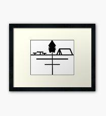 Minimalistic Campsite  Framed Print
