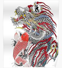 Dragon and Koi Yakuza Poster