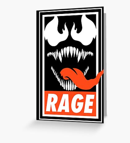 Rage. Greeting Card
