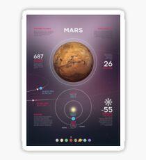 Mars infographic Sticker