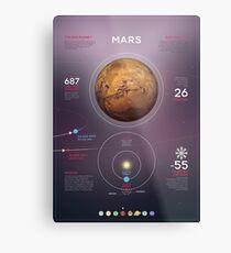 Mars infographic Metal Print