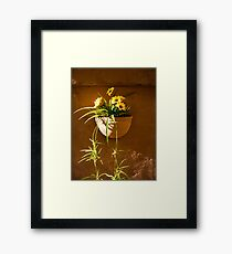 Planted Flowers Framed Print