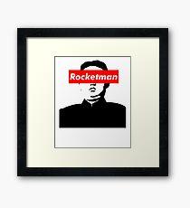 Rocketman Kim Jung Un Supreme Box Logo Parody  Framed Print