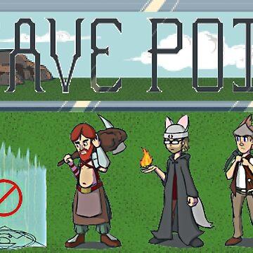 No Save Points Pixel Logo by RageGrenade