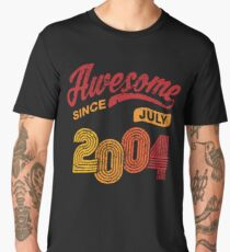 Awesome Since July 2004 Shirt Vintage 14th Birthday Men's Premium T-Shirt