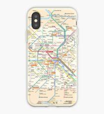 Paris Subway Map - France iPhone Case