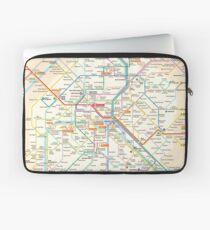Paris Subway Map - France Laptop Sleeve