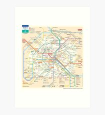 Paris Subway Map - France Kunstdruck