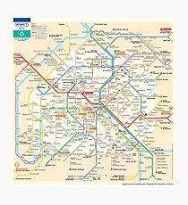Paris Subway Map - France Fotodruck