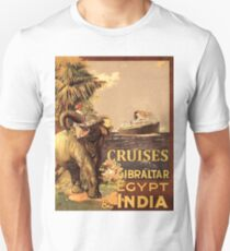 Cruises to Gibraltar, Egypt and India, tourist ship, Elephant Unisex T-Shirt