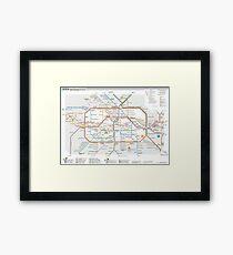 Berlin U-Bahn Map - Germany Gerahmtes Wandbild