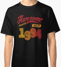 Awesome Since July 1994 Shirt Vintage 24th Birthday Classic T-Shirt