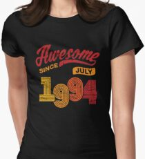 Awesome Since July 1994 Shirt Vintage 24th Birthday Women's Fitted T-Shirt