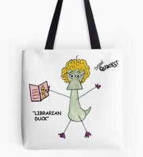 Librarian Duck Tote Bag