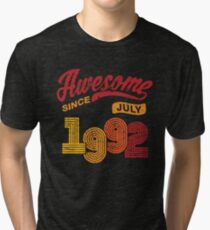 Awesome Since July 1992 Shirt Vintage 26th Birthday Tri-blend T-Shirt