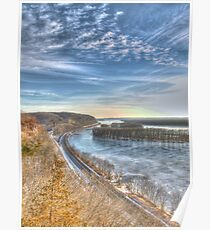 State Park HDR Series - Mississippi Palisades State Park - Scenic Overlook Poster
