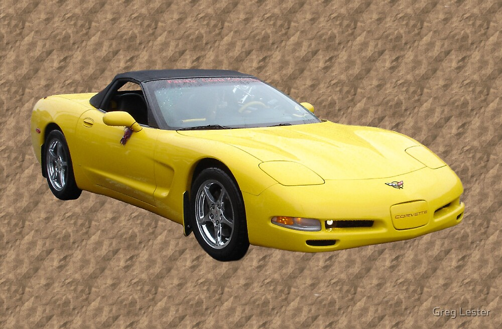 Yellow Vette by Greg Lester