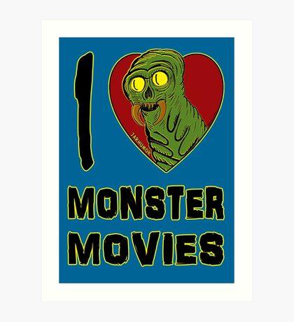 Me encantan las películas de monstruos Lámina artística
