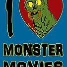 «Me encantan las películas de monstruos» de jarhumor
