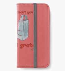 Grate!! iPhone Wallet/Case/Skin