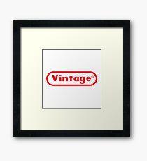 Vintage Retrogamer Framed Print