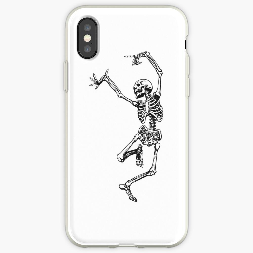 dancing skeleton having fun iPhone Case & Cover