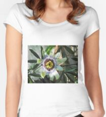 Passion Flower Close-up Women's Fitted Scoop T-Shirt