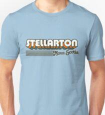 Stellarton, Nova Scotia | Retro Stripes Unisex T-Shirt