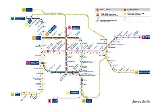 bruselas mapa metro blgica de superfunky