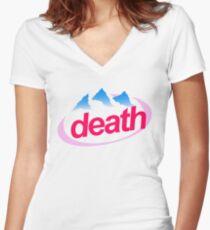 death evian cyberpunk vaporwave health goth Women's Fitted V-Neck T-Shirt