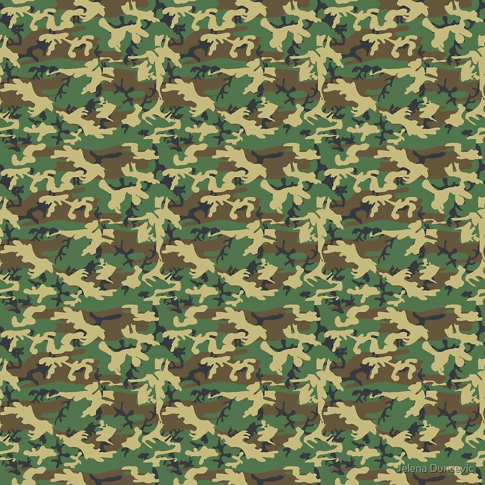 Military Camouflage Pattern - Brown Yellow Green  by sitnica
