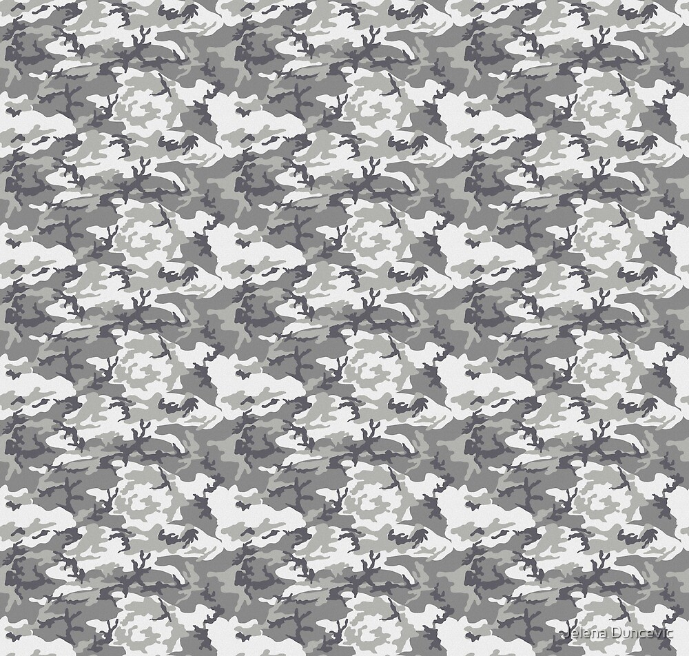 Military Camouflage Pattern - Gray White  by sitnica