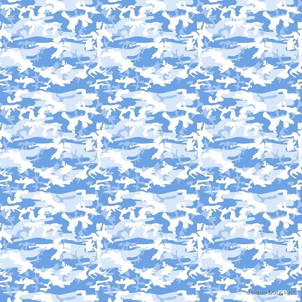 Military Camouflage Pattern - Blue White  by sitnica