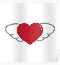 flying heart Poster