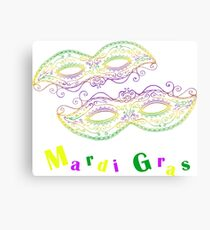 Mardi Gras decorative  carnival mask . Canvas Print