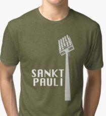 Sankt Pauli - Flutlicht Tri-blend T-Shirt